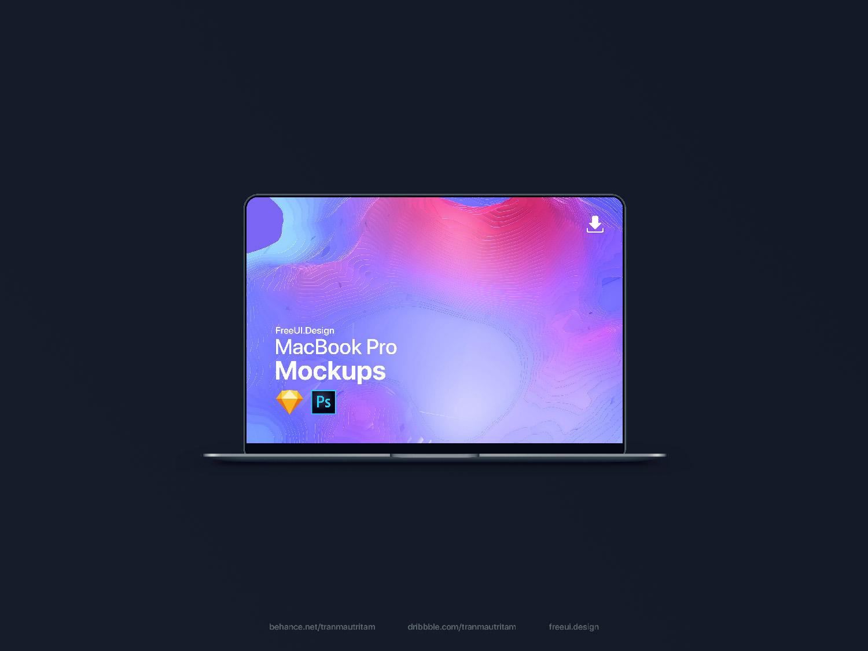 New MacBook Pro Mockup 2018 | Free Mockup