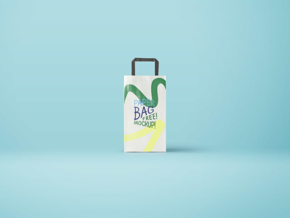 Long Paper Bag – Free PSD Mockup