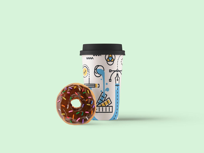 Paper Coffee Cup Mockup PSD   Free Mockup