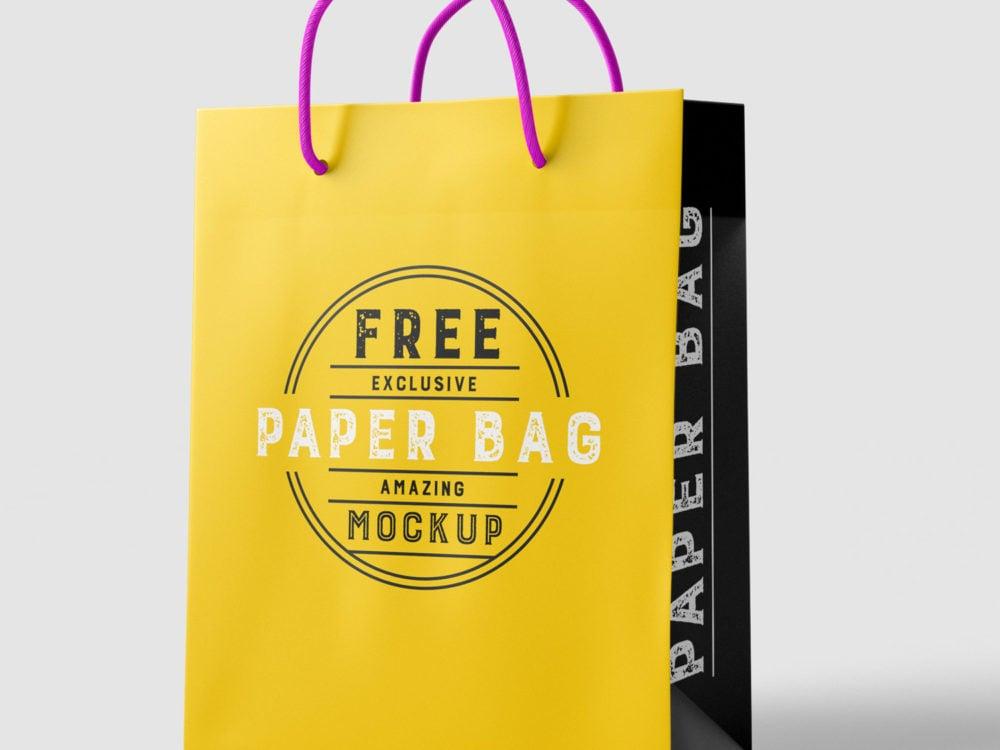 Shopping Bag PSD Mockup