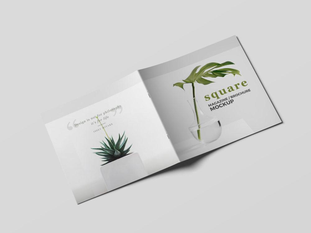 Square Magazine Brochure Mockup
