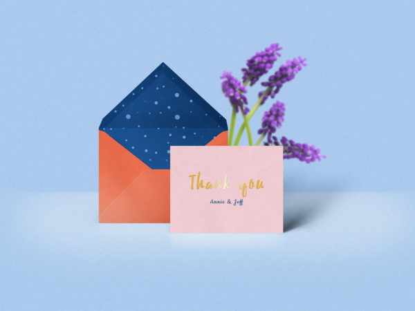 Thank You Card Mockup Free PSD