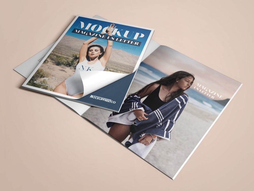 US Letter Magazine 3 Free PSD Mockups