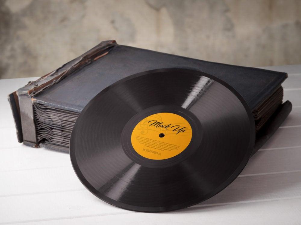 Vinyl Records 3 Free PSD Mockups