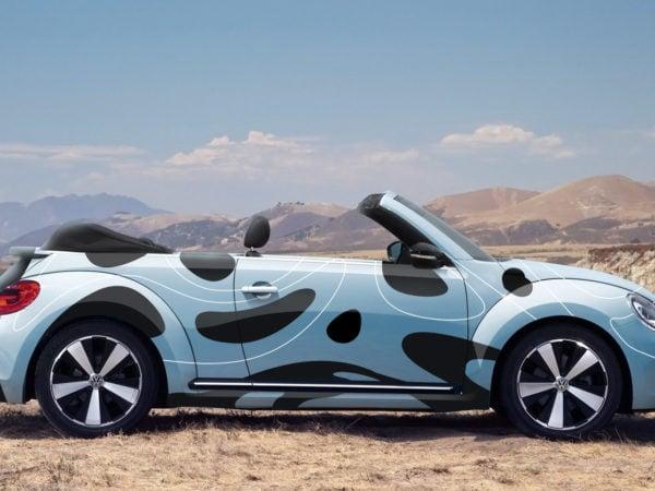 Volkswagen Beetle Branding Free Mockup