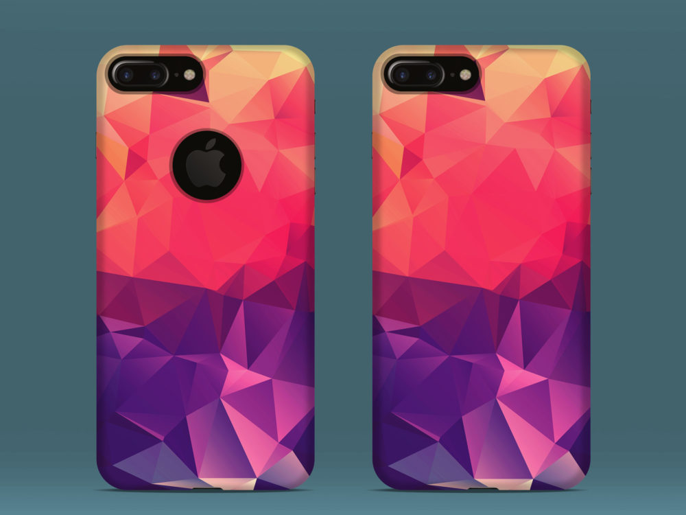 iPhone 7 Plus Back Cover Case Mock-Up PSD