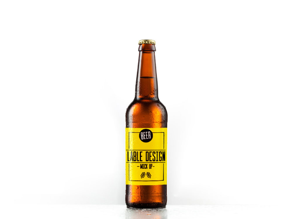 Beer Bottle Label Mockup Free Mockup - Beer bottle label template