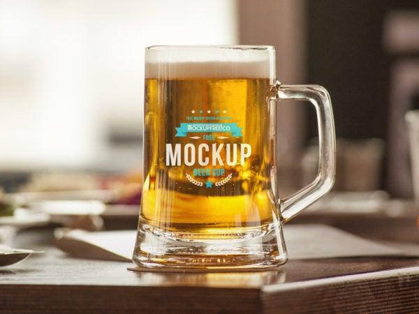Beer Cup Free PSD Mockup