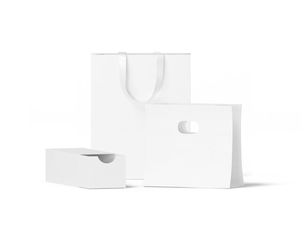 Box and Bags Free Mockup