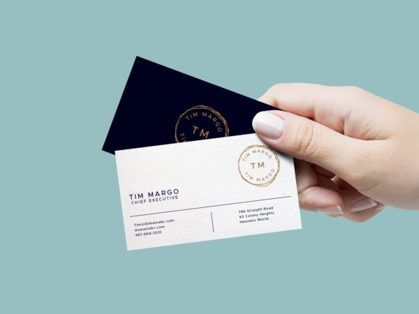 Business Card Hand Free Mockup