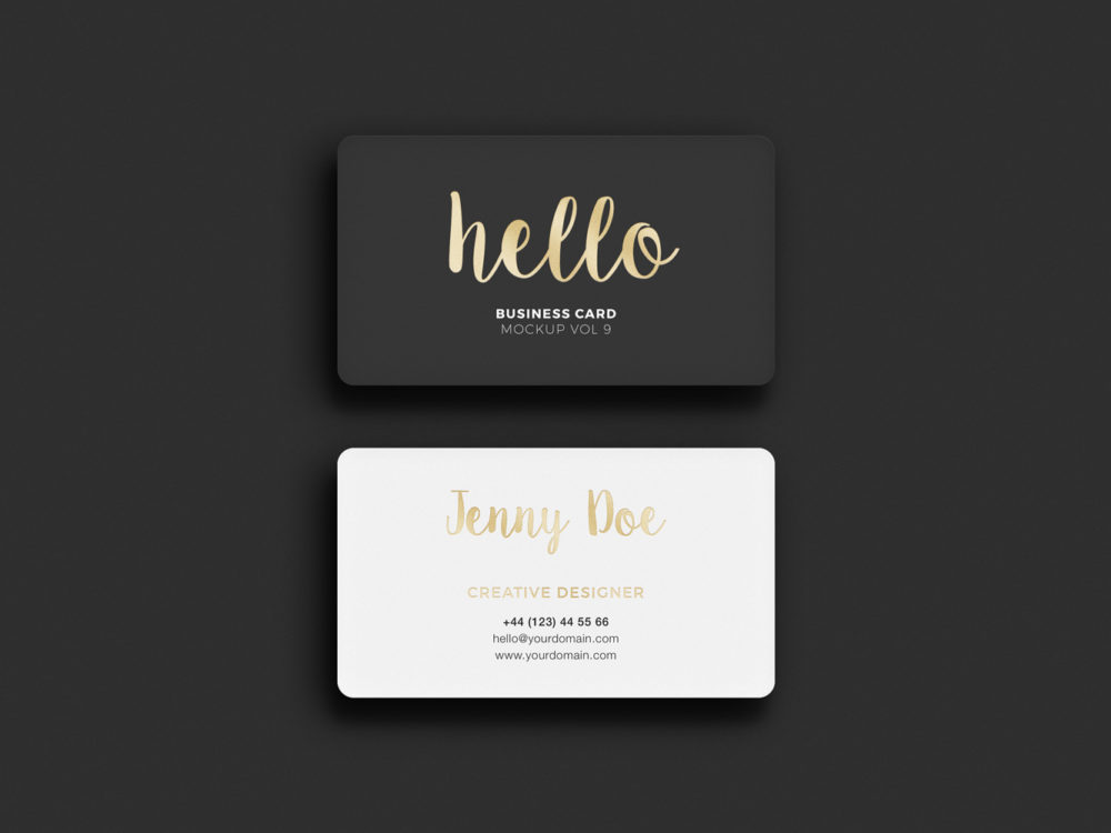 Business card rounded corners free mockup business card rounded corners reheart Image collections