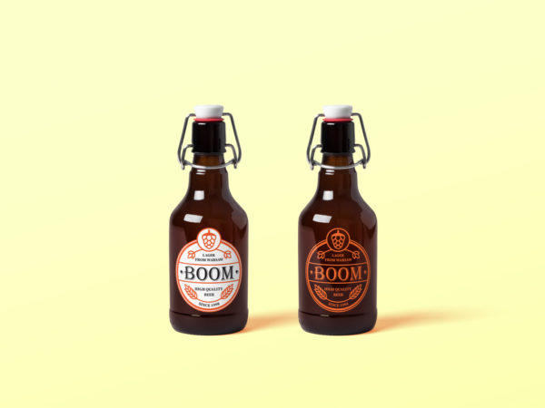 Free Beer Bottle Mockup