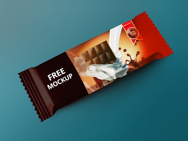 Free Chocolate Snack Bar Mockup PSD