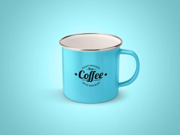 Free Enameled Mug Mockup