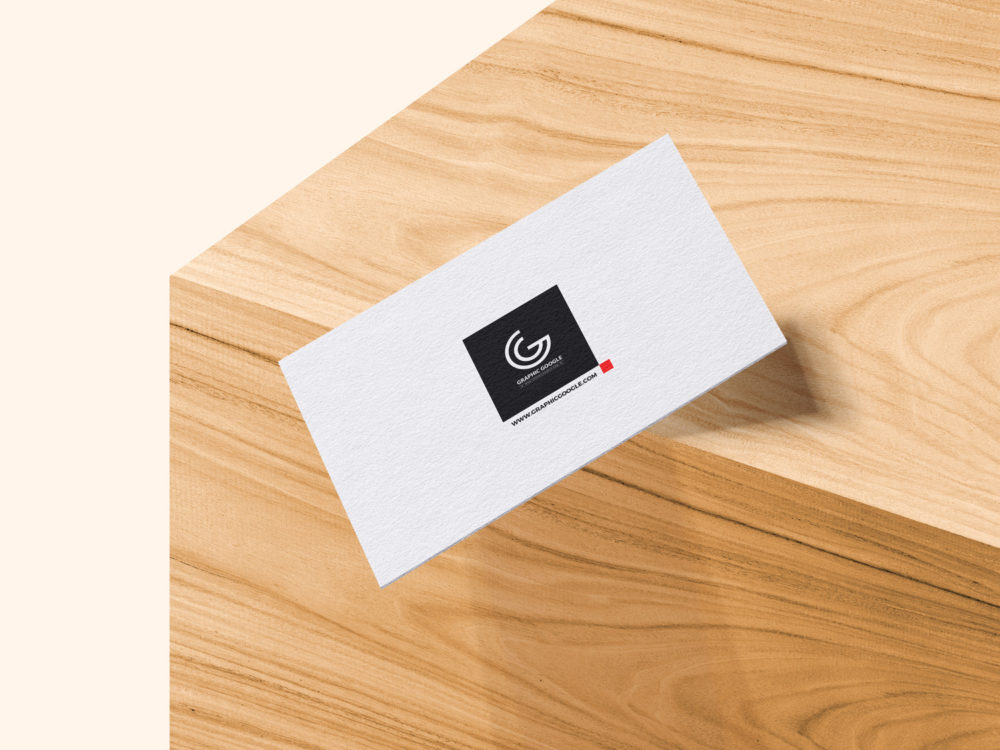Falling Business Card Mockup