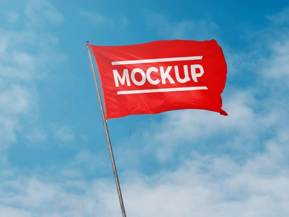 Free Flag Mockup PSD Template