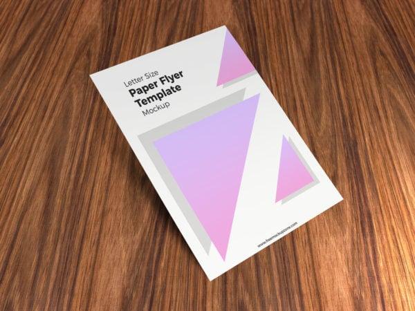 Free Letter Size Paper Flyer Mockup