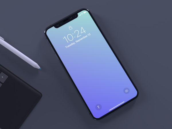 Free Mockup iPhone X PSD