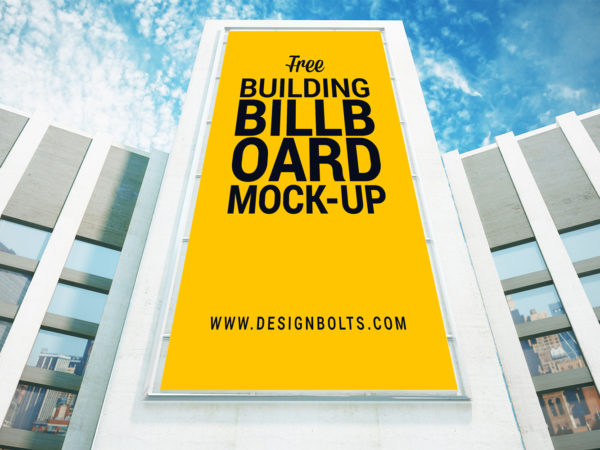 Free Outdoor Advertising Building Billboard Mockup