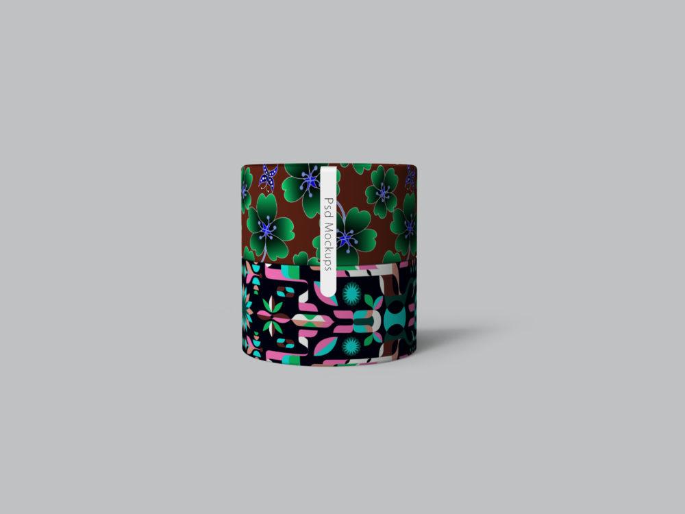 Free Paper Packaging Tube Label Design Mockups