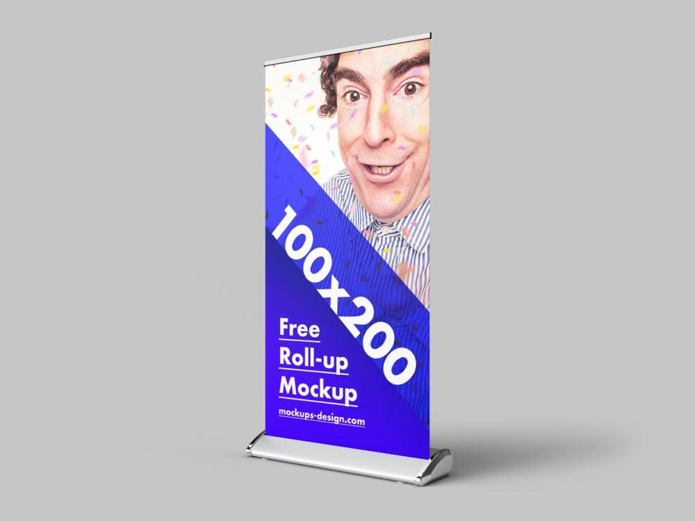 Free Roll-Up Mockup (100 x 200 cm)