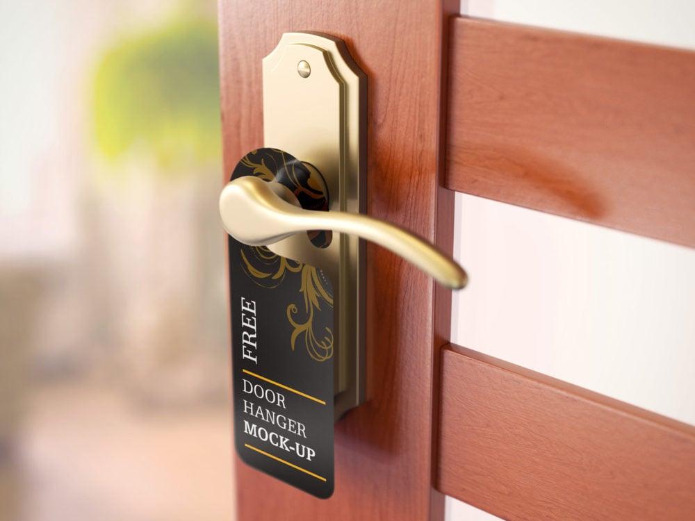 Free Set of Door Hanger Mockups