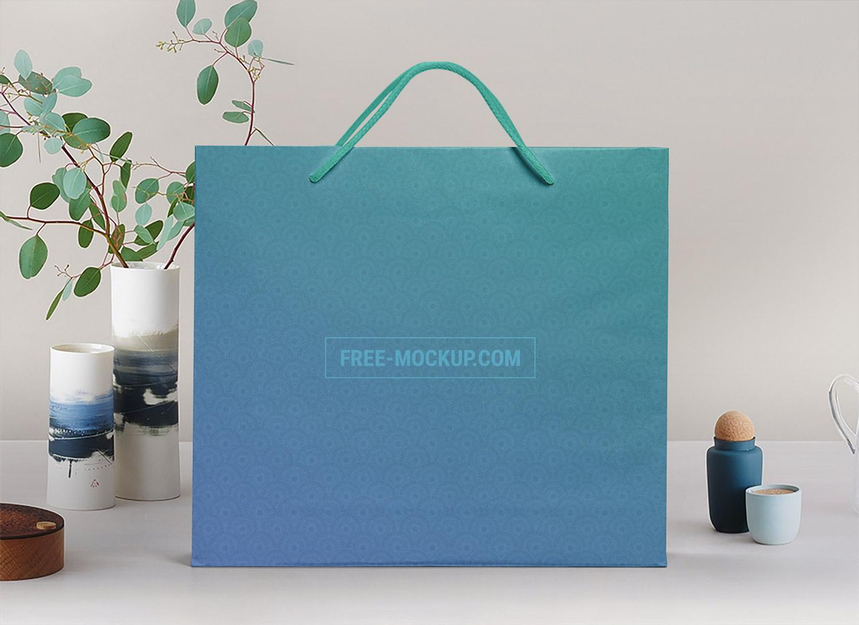 Shopping Paper Bag Free Mockup