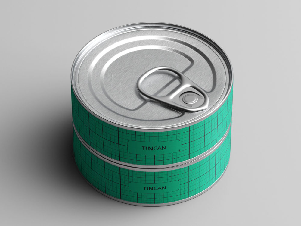 Free Short Tin Can Mock-Up
