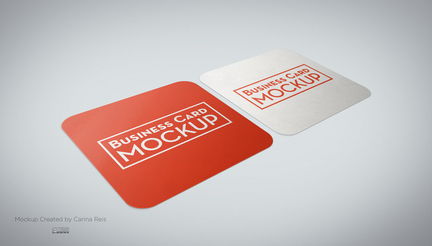 Free Square Business Card Mockup | Free Mockup