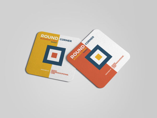 Free Square Round Corner Business Card