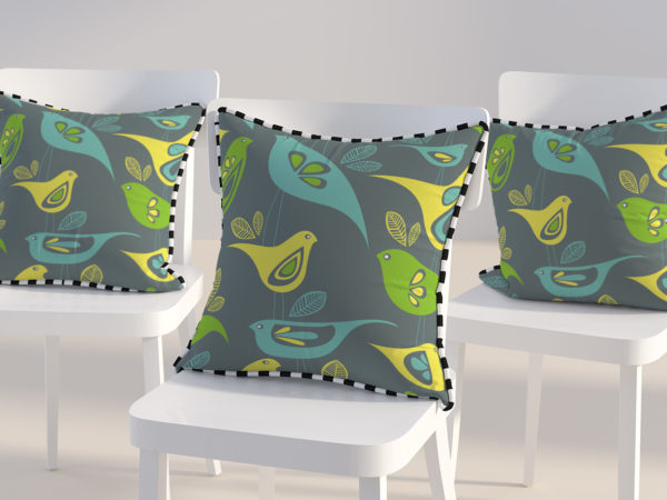 Free Triple Pillow Design Mockup