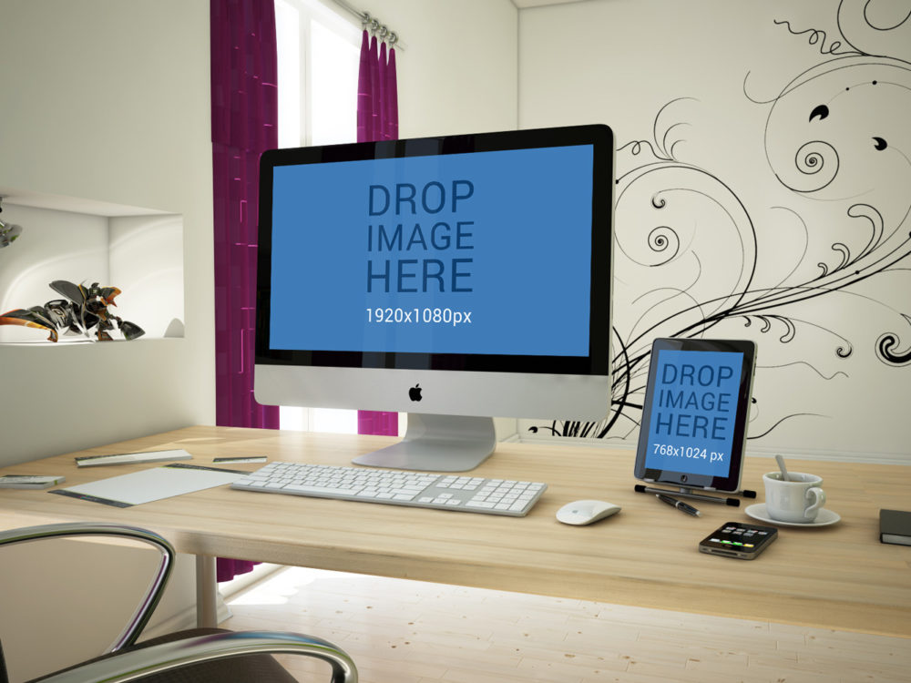 Free iMac and iPad Mockup