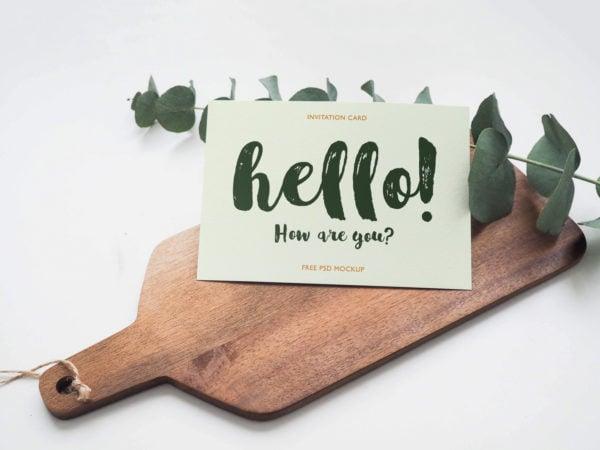 Invitation Card Mockup