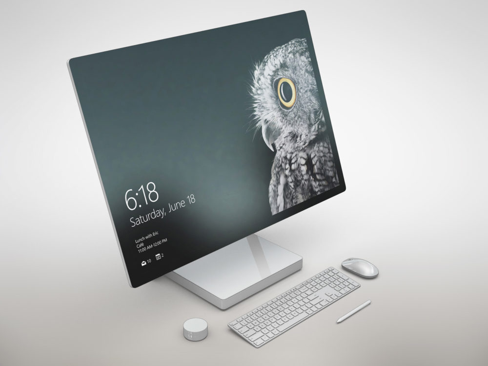 Microsoft Surface Studio Free Mockup