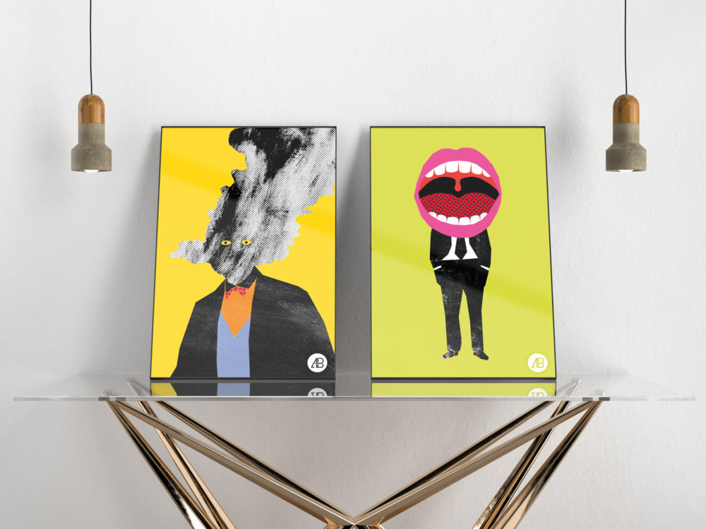 Modern Double Poster Mockup