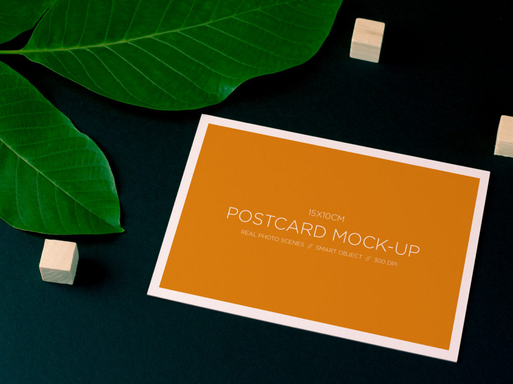 Nature Style Postcard Free Mock Up