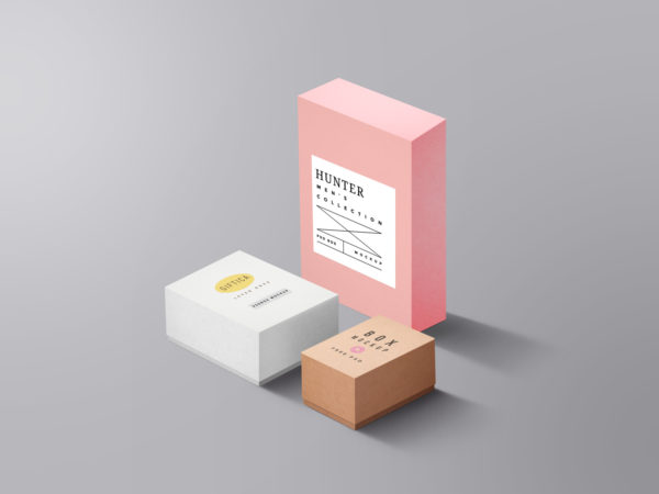 Packaging Boxes Mockup Free