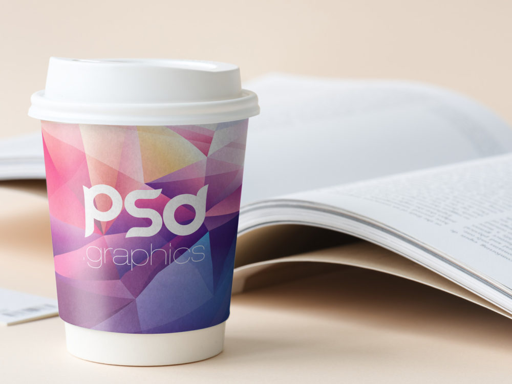 Paper Coffee Cup Mockup Free PSD