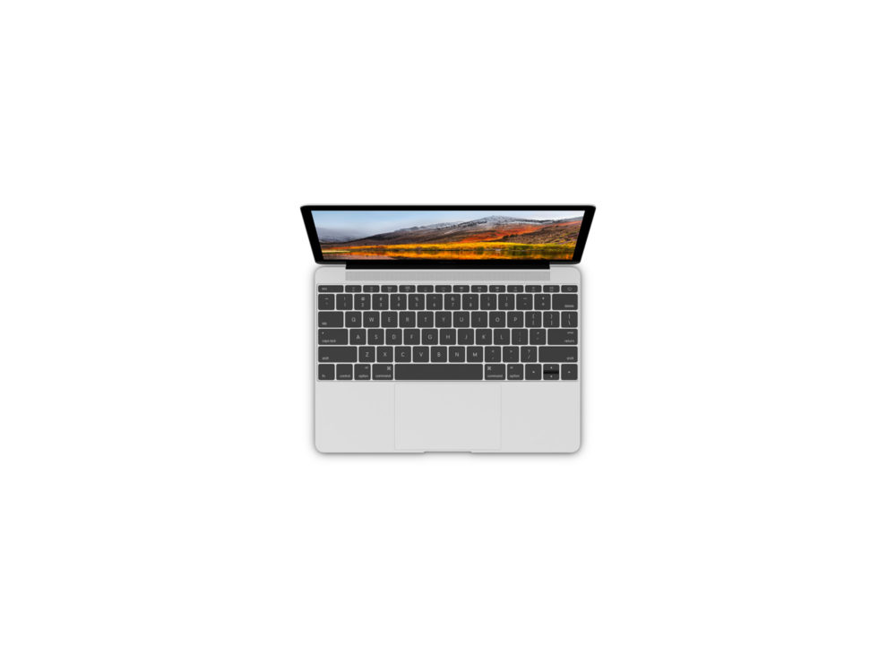 Silver MacBook Mockup