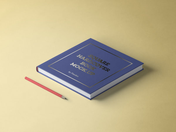 Free Square Hardcover Book Mockup