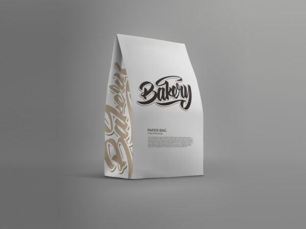 Standing Paper Bag Mockup
