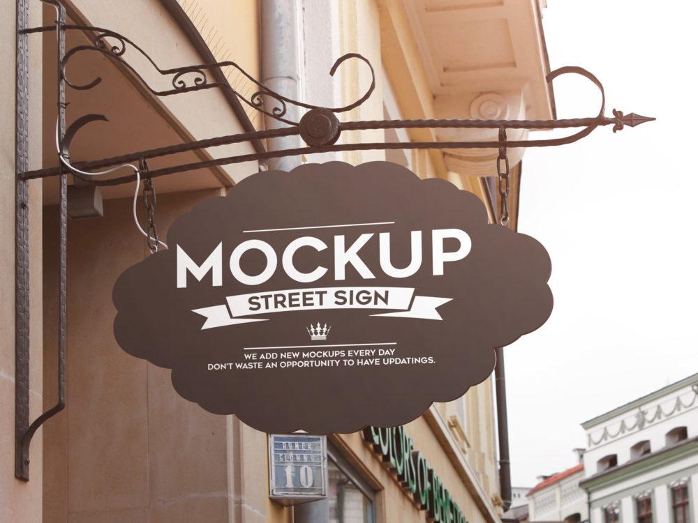 Street Sign Free 4 PSD Mockups