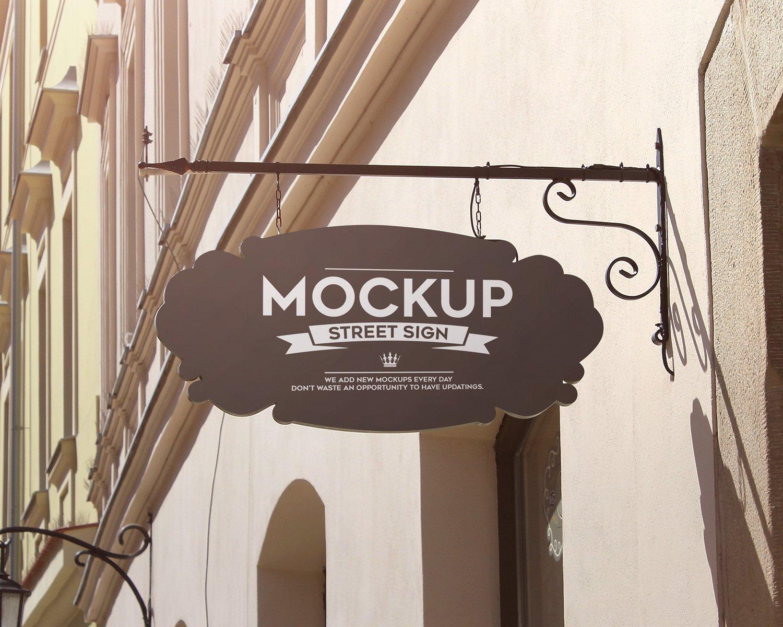 Street Sign Free 4 Psd Mockups Free Mockup