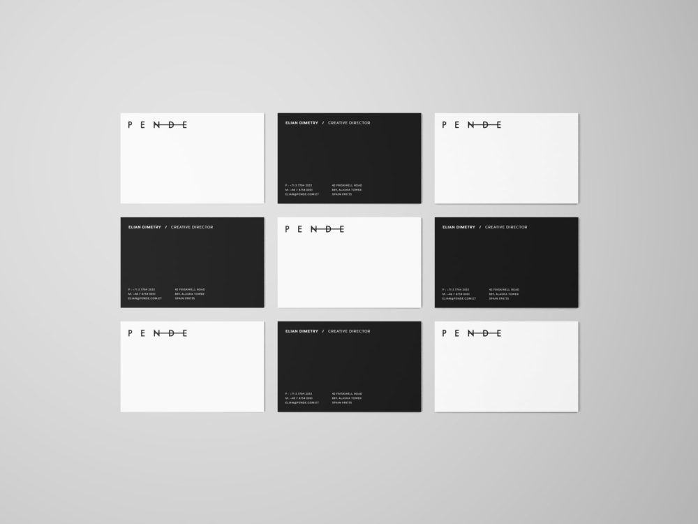 Uniform Overhead Business Cards