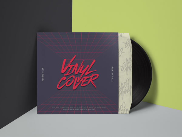 Vinyl Cover Record Free Mock Up