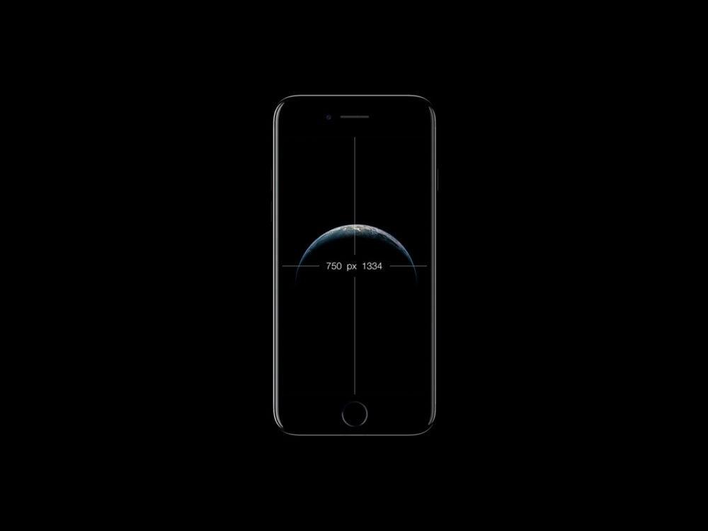 iPhone 7 Black Mockup