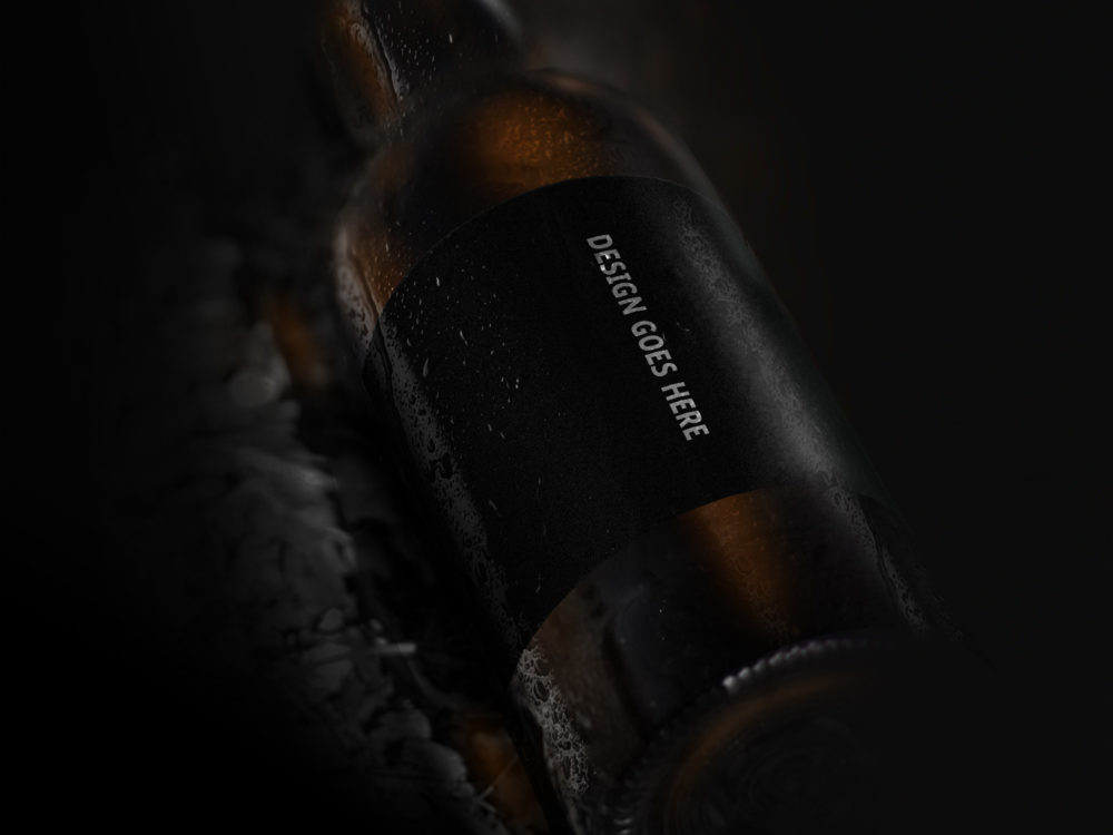 Beer Bottle Mockup Free PSD Template