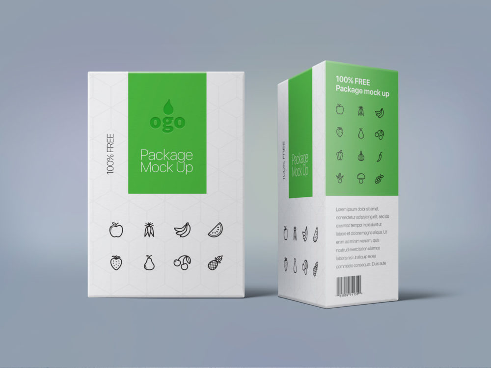 Box Package Design Mock Up