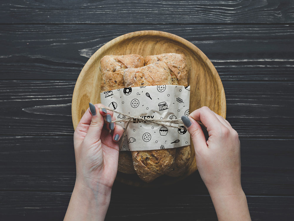 Bread Mockup with Hands