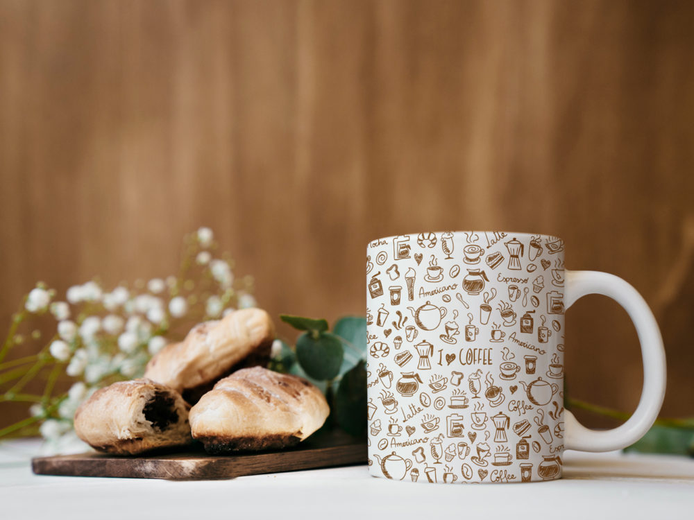 Breakfast Mockup with Cup